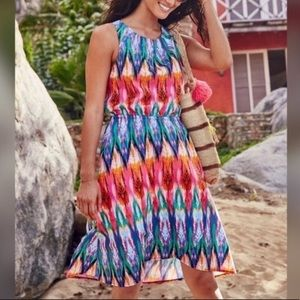 Athleta Ikat Martinique dress medium multicolored